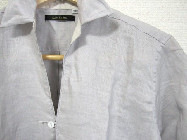 □Ciaopanic/チャオパニック ワイヤー襟7分袖 シャツ/M☆新品 < ブランドの