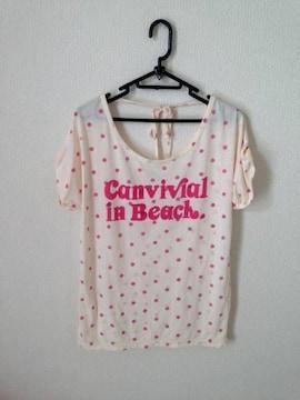 ディグレース★ドット バックリボン カットソー Tシャツ