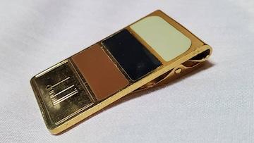 正規 ダンヒル マルチコンビマネークリップ トリニティブロックカラー×ゴールド 財布 札入