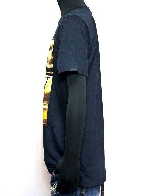 新品正規NIXONニクソンサーフプリントTシャツブラック < 男性ファッションの