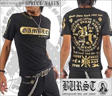 メール便送料無料【MAD BURST JAPAN】70536Tシャツ黒金L