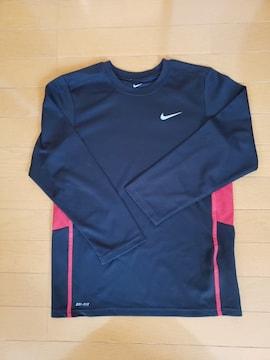 NIKE ナイキ ドライフィット 長袖 Tシャツ ブラック 140〜150