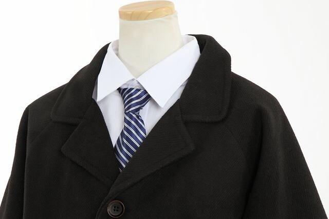 新品 お受験 男の子 コート 黒 ブラック フォーマル145/150 /155 < キッズ/ベビーの