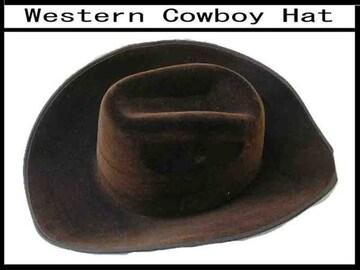 新品 ウェスタン ハット cowboy ハット 茶色 55cm