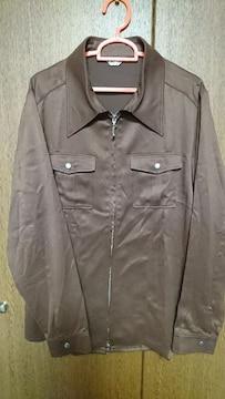 size:L3(17号位)★ダブルジッパーシャツ★ブラウン