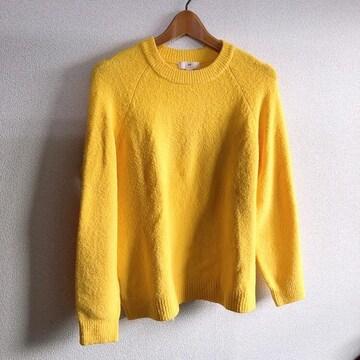◆H&M/エイチ&エム◆丸襟ニットプルオーバー★イエローM*パッキリカラー♪黄色