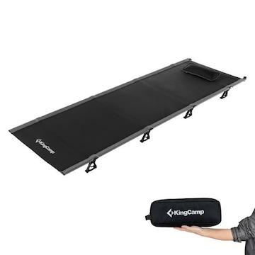 アウトドア 折りたたみベッド 枕と収納バッグ付き 軽量 ブラック