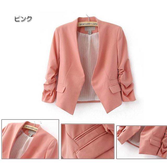 【送料無料】☆シンプルでオシャレ♪ショート丈テーラードジャケット/全5色 < 女性ファッションの