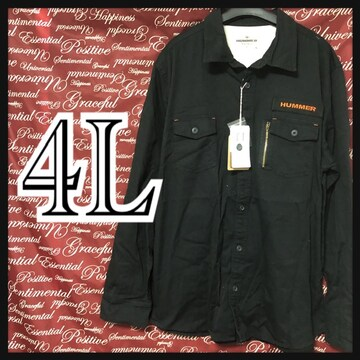 4L・HUMMERミリタリーシャツ新品/MC03P909-005