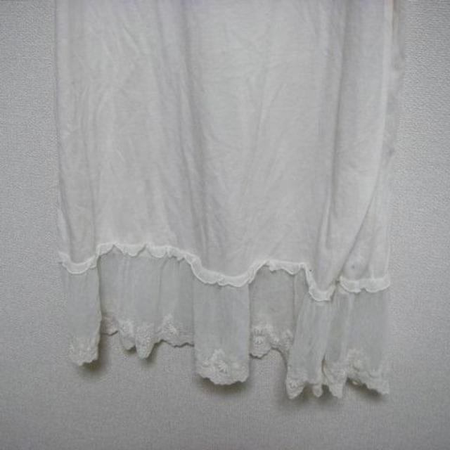 シュカ M キャミ ワンピース ペチ クリーム色 < 女性ファッションの