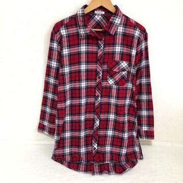#チェックシャツ チュニック M