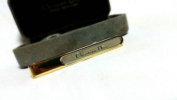 正規レア ディオールDior ロゴコントラストネクタイピン ゴールド×シルバー ヴィンテージ