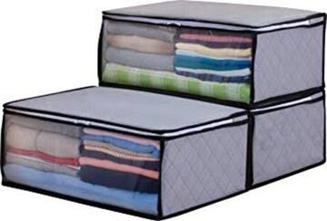 色グレー サイズ衣類用 アストロ 衣類収納ケース 3枚組 活性炭シ