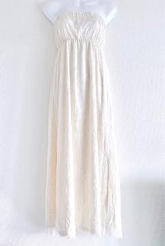 Rady艶サテン白レースフラワーベアロングマキシワンピースドレス