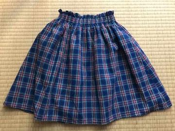 美品★coco bibi チェック フレアミニスカート