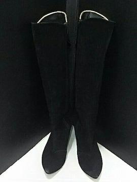 最値定3万!日本製!ハンドメイド!高級スエードサイドジップブーツ 22.5cm