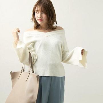 新品☆WEGO(ウィゴー)マルチWAYフレアスリーブニット☆