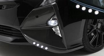 LX MODE PRIUS 50 ガンメタ塗装LED内蔵フォグランプガーニッシュ