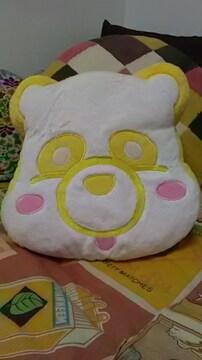 AAA・え〜パンダ・ふさふさフェイスクッション・黄色 日高