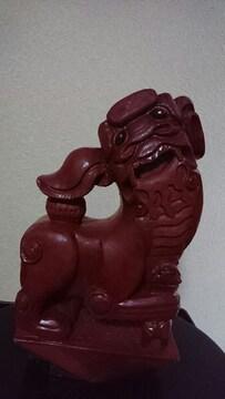 琉球時代   →獅子舞  赤塗り仕上  縁起物一刀彫り