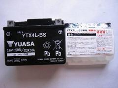 ◆バイクバッテリー ユアサ YTX4L-BS トゥデイ AF61/AF67 ディオ