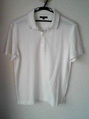BURBERRY LONDON白色ポロシャツホワイトLサイズ日本製 確実正規品 即決
