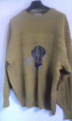 Chez Antoonio ウール100長袖セーター