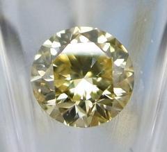 ラウンドカットの天然イエローダイヤモンド0.33ct★3307