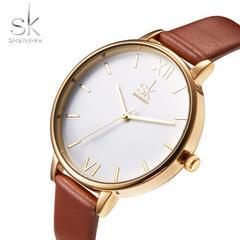 腕時計 レディース ゴールド ブラウン