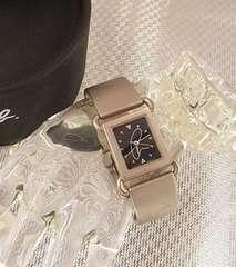 500円スタ★本物正規アニエスベー レディース腕時計 V401-5950