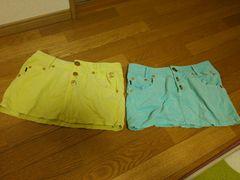 ソードフィッシュ ミニ スカート レディース ブルー 黄色 セット