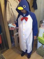 ★着ぐるみ ペンギン& お魚付 大人用 パーティー イベントに!★