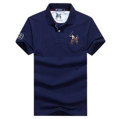 5色★メンズポロシャツ半袖立ち襟 トップス カジュアルM~3XL