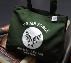 USAFエアフォース肩がけトートーバッグカーキー新品/ミリタリー