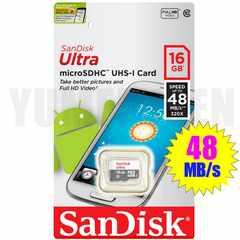 ◆送料無料 SANDISK 16GB 高速48MB/s クラス10 microSDHC マイクロSDHC