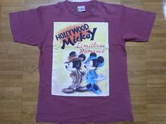 即決USA古着ハリウッドミッキーデザイン半袖Tシャツ!ディズニーレア