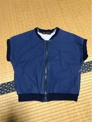美品 スパイキッズカンパニー デニム ジャケット 半袖 120