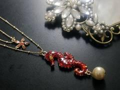 新品ゴスロリ姫系タツノオトシゴと海星ネックレスBETSEY JOHNSON