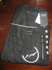 激レア★Levi's Fenom207 5Five Star Print BlackDenim