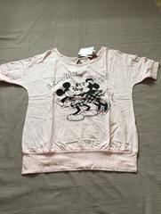 新品M ミッキー&ミニーの半袖Tシャツ