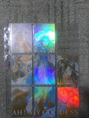 トレカ ああっ女神さまっ パズルカード 3女神 #64#65#67〜#72 8枚 ノーマル