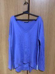 シップス ニット セーター 紫