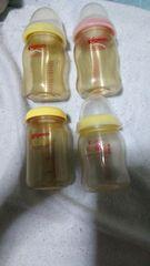中古/ピジョン哺乳瓶160ml�C本+240ml�A本まとめ売り