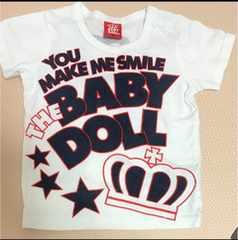 ベビードール◯90cm◯ロゴ◯Tシャツ◯baby doll