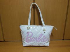 ★バービー/Barbie♪可愛い手提げバッグ★美品★白★