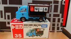 ★赤箱トミカ35★スバル サンバー ラーメン屋★