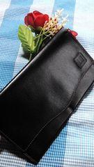 鑑定済必見人気のブラックダンヒル長財布