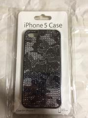 iPhone5 5s se ラインストーン 迷彩柄ケース 新品未使用 未開封
