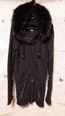 LGBルグランブルー ラクーンファージップアップパーカー0 PARKA/MID/with fur