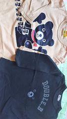ミキハウス 薄手 長袖 Tシャツ 2枚 まとめ売り サイズ100